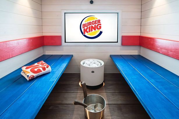 Burger King has opened a spa – now you can eat your Whopper in the sauna