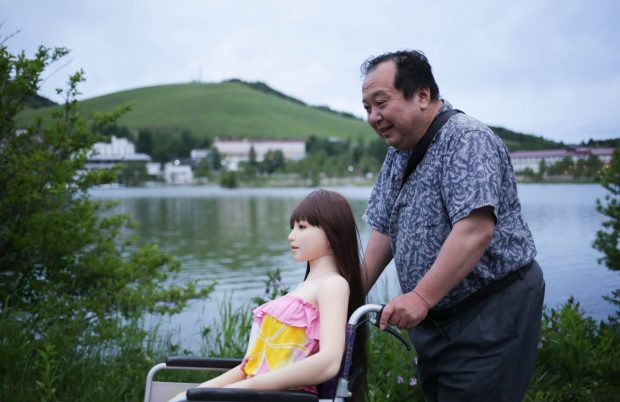 Married dad falls in love with a sex doll, transports it around in a wheelchair like a girlfriend