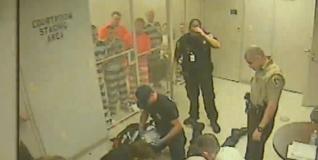 Inmates break free from cell to help jailer who fell unconscious