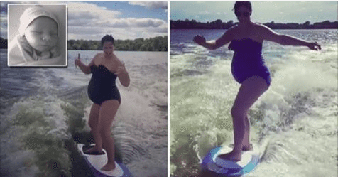 Pregnant Woman Goes Wake Surfing to Help With Delivery