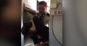 You don't put your hands on my flight attendant