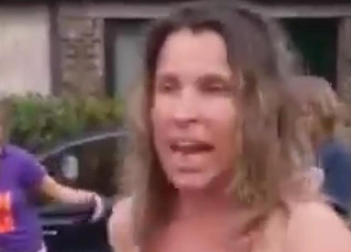 Half-naked Florida mom in bikini launches obscene racist rant