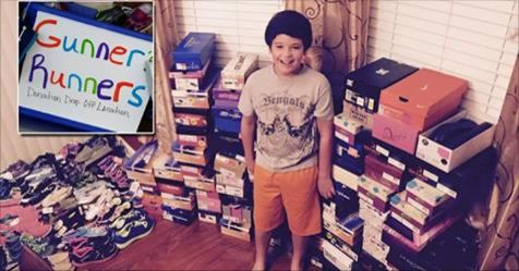 10 Year Old Boy Asks Birthday Party Guests To Bring Shoes Instead of Gifts So He Can Give Them to Needy Kids