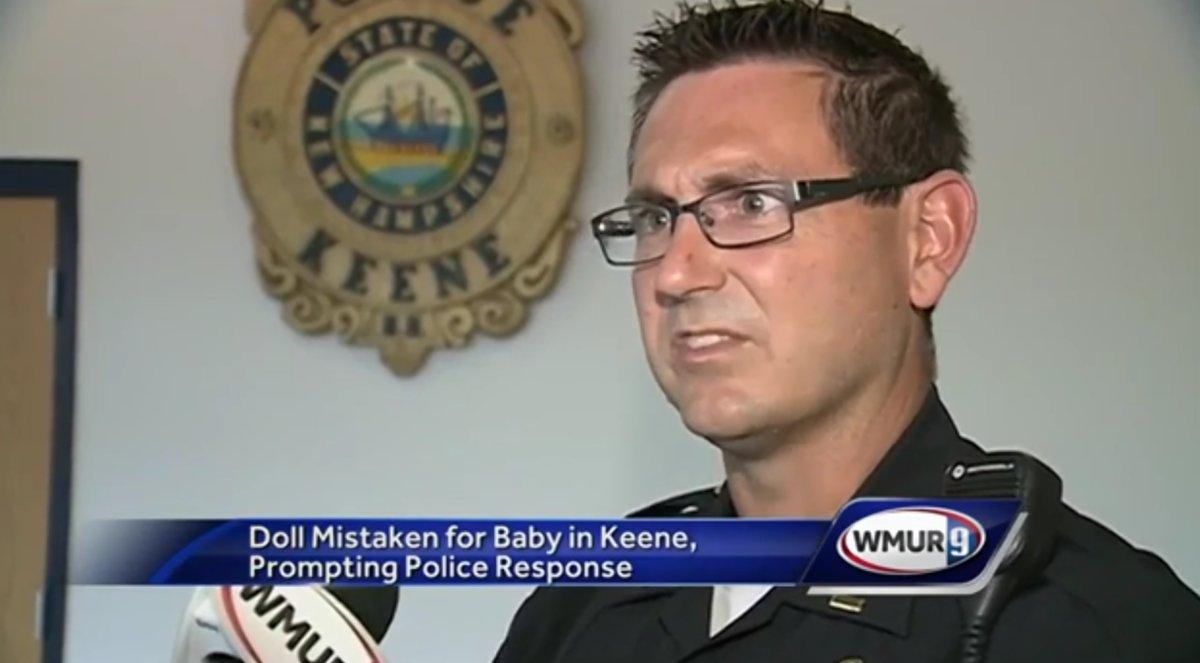 Police officer attempts to rescue baby from hot car before realizing infant is actually a doll