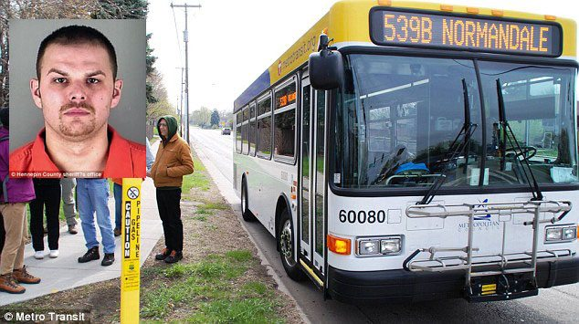 Minnesota man stole city bus because he was running late for work after locking his keys in his car