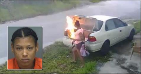 Teen Allegedly Sets Fire to Car She Thought Was Her Ex-Boyfriend's