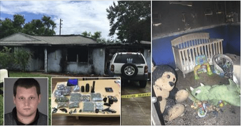 Man Grabs His Drugs But Leaves Baby and Dogs Behind – as House Burns