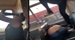 Thug Gets Stomped Out By Woman On The Metro After He Calls Her The N-Word