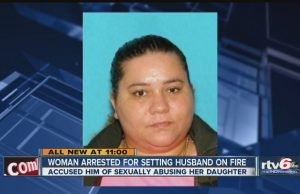 Woman set husband on fire for allegedly molesting her 7-year-old daughter