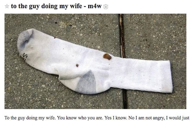 Chillest Husband Ever Posts An Epic Series Of Requests On Craigslist For 'The Guy Doing My Wife'