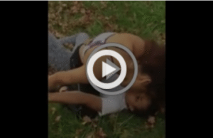 Girl Gets Shocked in the Face with Her Own Taser during Fight, Then Gets Jumped By The Whole Crew