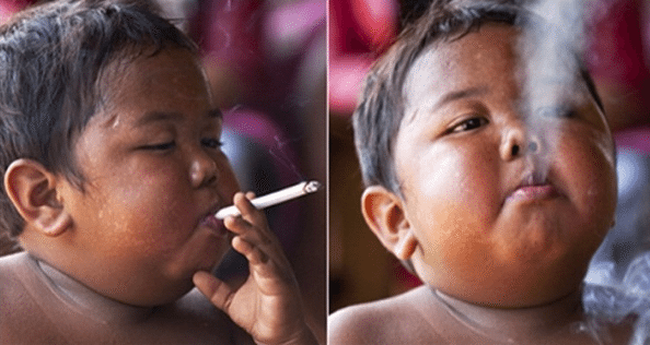 REMEMBER THE BABY WHO SMOKED 40 CIGARETTES A DAY?