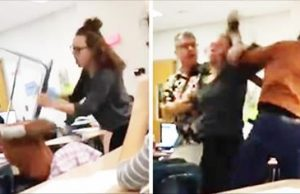 Girl Gets Smashed With Chair In Class For Talking Trash On Snapchat