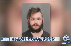 Uber driver stabs passenger