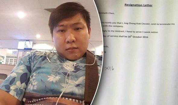 boss rewrites employee resignation letter
