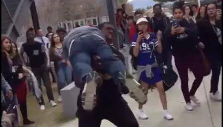 High School Security Gets Tossed like a Rag Doll While Trying to Apprehend Student