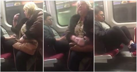 Video shows woman SIT on man's feet when he wouldn't take them off train seat – Viral