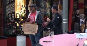 Fake homeless get caught
