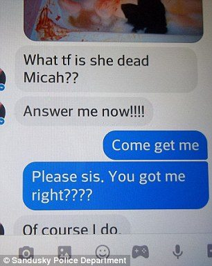 texts of a fake murder