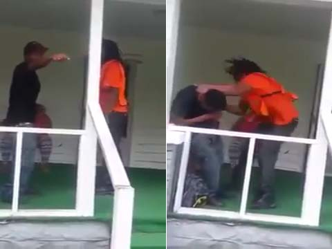 Guy Receives an Epic Beat-down From His Fiancé's Dad After He's Caught Cheating