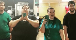 Couple loosing over 300 pounds