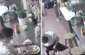 cctv Footage Shows Waitress Using Customer's Hotdog As Tampon