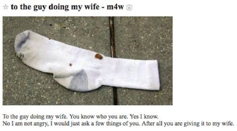 Husband Posts Weird Requests on Craigslist