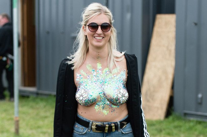 How glitter boobs became the summer's hottest festival trend