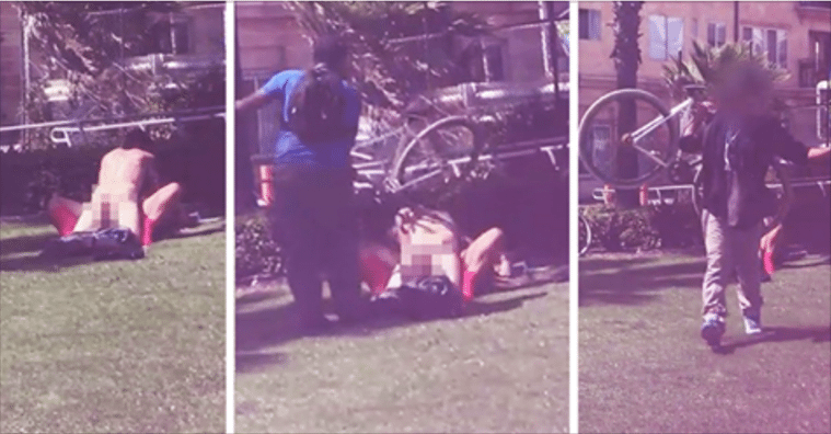 Man Blasts Dude in Head With Bike To Stop Couple From Having Sex Near Playground