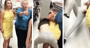 woman punches girl