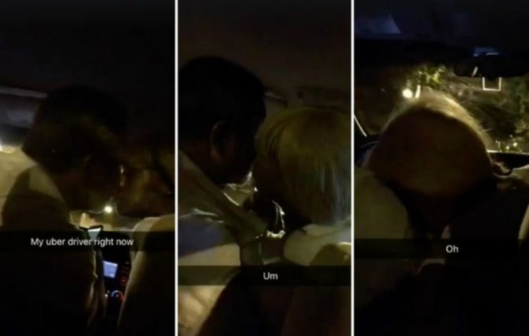 Horny Uber Driver Gets Head By Drunk Prostitute With Passenger In The Backseat