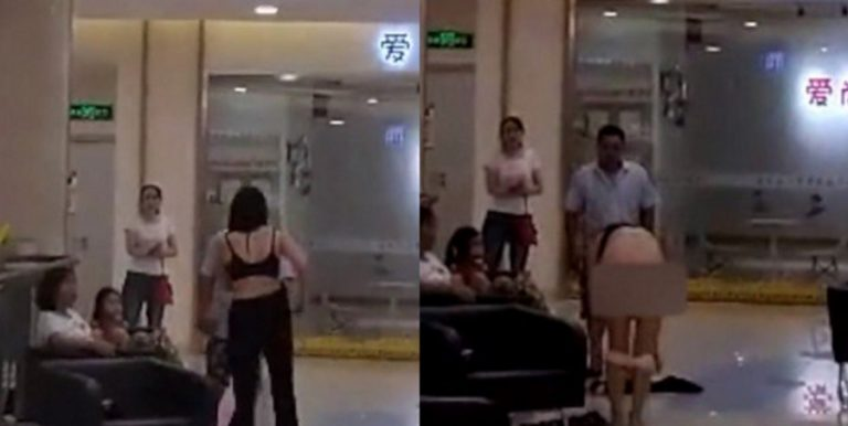 Chinese Woman Strips Naked At A Mall After Ex-Husband Tells Her He Bought Her Clothes